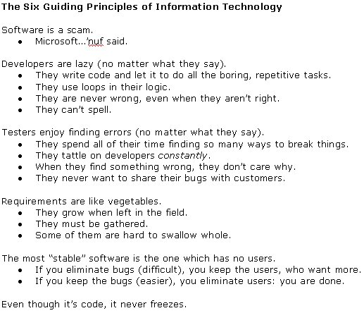 6 Guiding Principles of Information Technology
